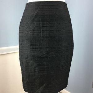 Ann Taylor Black straight pencil skirt Textured 4